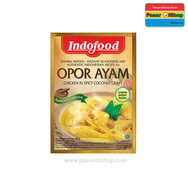 Indofood Bumbu Instan Opor Ayam 45 gram pasarolshop 1- Pesan Di Antar | Buah Sayur Lauk Sembako