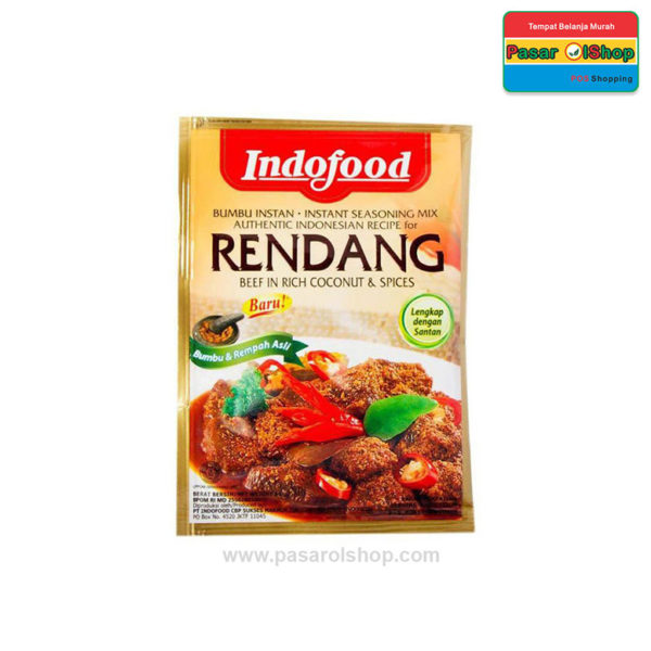 Indofood Bumbu Instan Rendang 45 gram pasarolshop 1- Pesan Di Antar | Buah Sayur Lauk Sembako