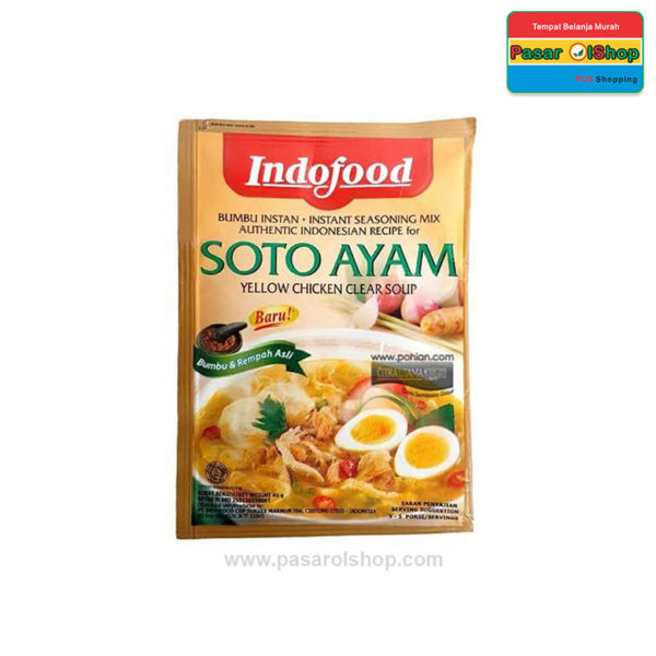 Indofood Bumbu Instan Soto Ayam 45 gram pasarolshop 1-buah sayur online jogja