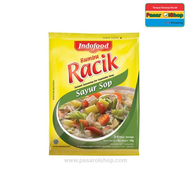 Indofood Bumbu Racik Sayur Sop 20 gram pasarolshop 1- Pesan Di Antar | Buah Sayur Lauk Sembako