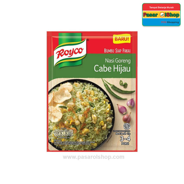 Royco Nasi Goreng Cabe Hijau 17 gram pasarolshop 1- Pesan Di Antar | Buah Sayur Lauk Sembako