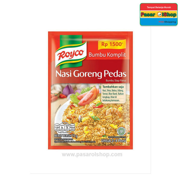 Royco Nasi Goreng Pedas 17 gram pasarolshop 1- Pesan Di Antar | Buah Sayur Lauk Sembako