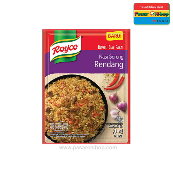 Royco Nasi Goreng Rendang 17 gram pasarolshop 1- Pesan Di Antar | Buah Sayur Lauk Sembako