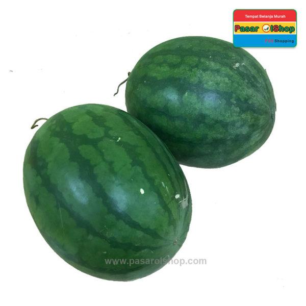 semangka merah non biji agrobuah pasarolshop 1b 2-buah sayur online jogja