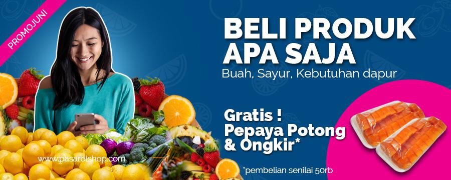 Slider Promo free buah potong- Pesan Di Antar | Buah Sayur Lauk Sembako